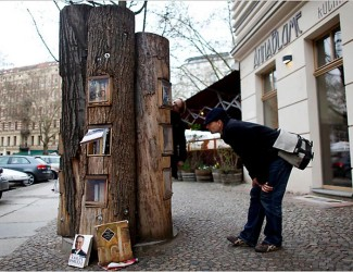 a street bookshelf in Berlin