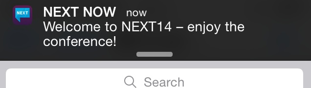 iBeacon notification from NEXT NOW