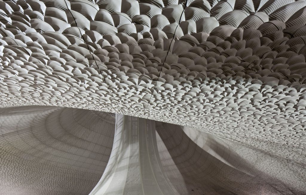 The ceiling patterns of the Elbphilharmonie