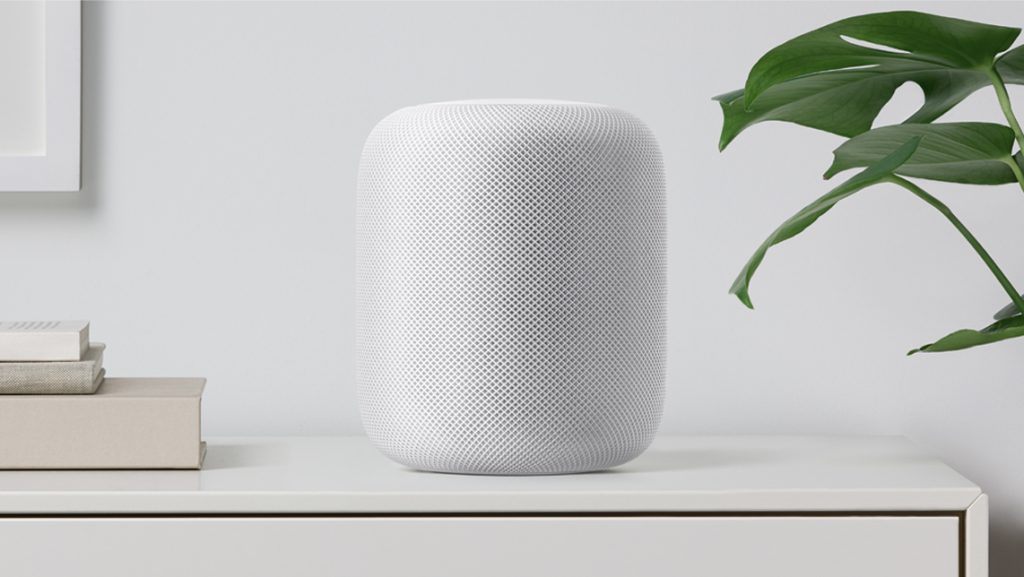Apple HomePod on the shelf