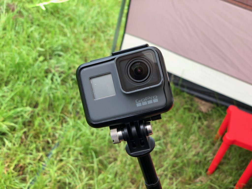 GoPro in the tent
