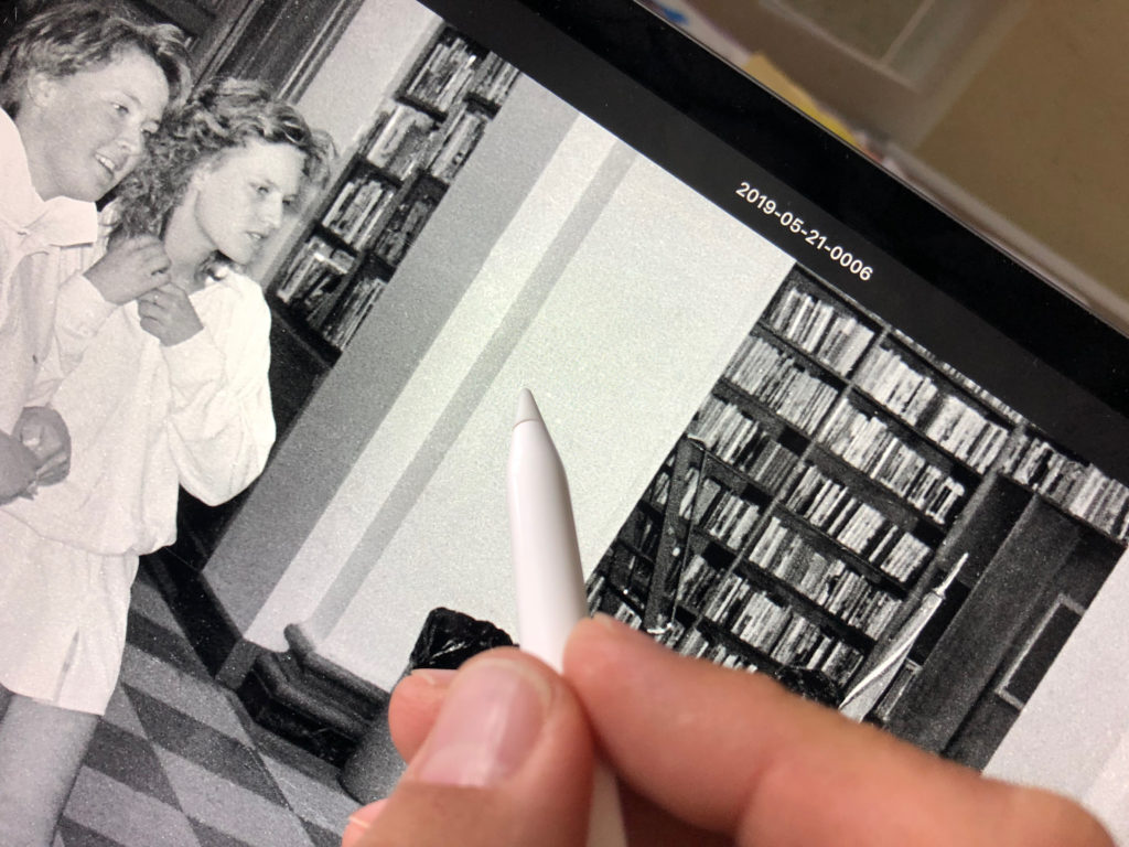 Editing scanned photos on an iPad Pro