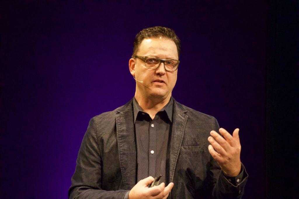 Scott Smith talking at NEXT19 in Hamburg