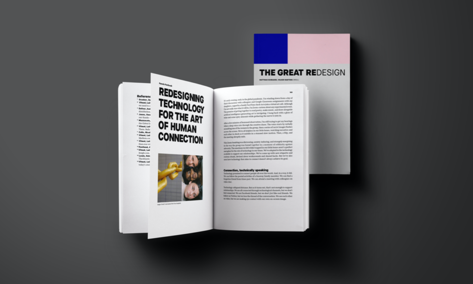 Cover and page view of 'The Great Redesign'